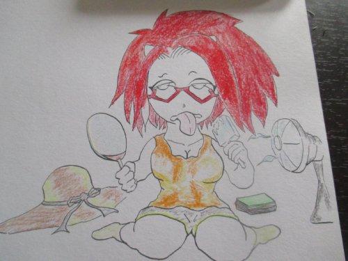 水彩色鉛筆 イラスト ブログイメージキャラ
