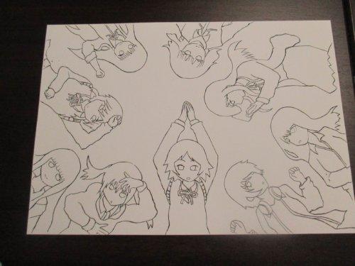 女子高生の無駄づかい 女子無駄 イラスト EDテーマ 青春のリバーブ