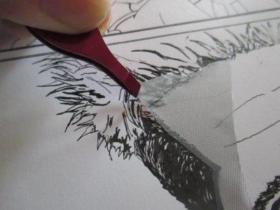 トーン用にデザインカッタおすすめ スクリーントーンを奇麗に切り取り 貼る方法  漫画 ブラッドピット