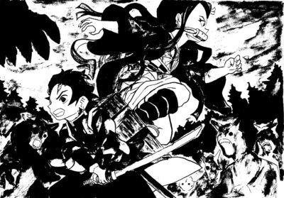 鬼滅の刃 イラスト 水彩色鉛筆 「from the edge」FictionJunction feat. LiSA