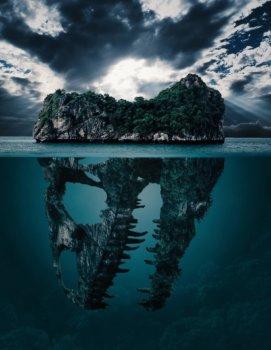 呪われた島 呪われた孤島 恐竜がいる島 海の恐怖画像