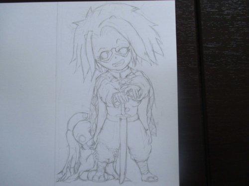 水彩色鉛筆 イラスト 鬼滅の刃炭治郎コス ブログのイメージキャラ
