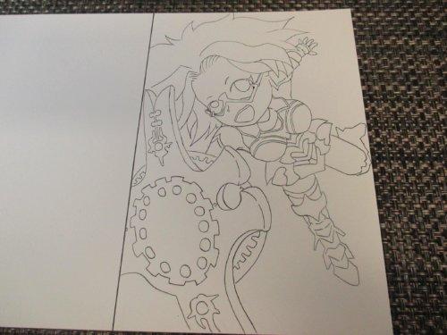 Fate/Grand Order -絶対魔獣戦線バビロニア 水彩色鉛筆 イラスト マシュ コス ブログオリキャラ 描いてみた