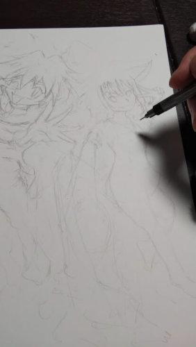 イラスト このすば めぐみん スレイヤーズ リナインバース 色鉛筆 水彩色鉛筆