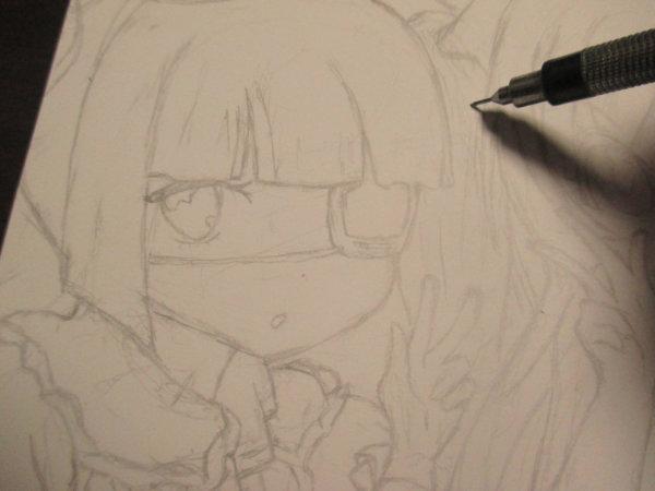 水彩色鉛筆 色鉛筆 イラスト 邪神ちゃんドロップキック 邪神ちゃん 2期 邪神ちゃんオープニング かわいい女の子 水彩色鉛筆イラスト塗り方 色鉛筆イラスト塗り方