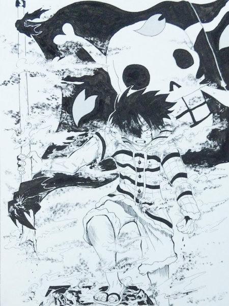 ワンピース 海賊旗 ルフィ名シーン ワンピース名シーン ワンピース感動シーン チョッパー編 ワンピースイラスト ルフィカッコいい