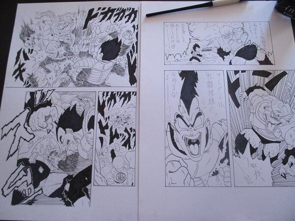 ドラゴンボール23巻 漫画模写 ベージタVSリクーム 難しい構図 絵上手くなる方法漫画描け DragonBall drawing a maga page
