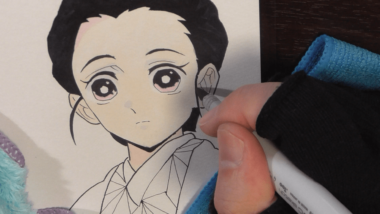 鬼滅の刃 竈門禰豆子 (かまどねずこ)の人間イラスト描いてみました。使ったコピック(番号)について解説。