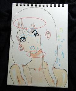 けいおん 秋山雫 コピック イラスト 塗り方