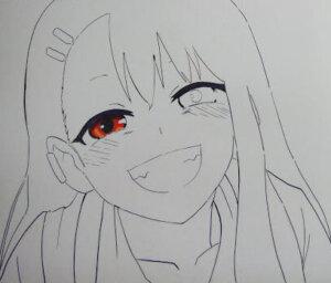 いじらないで長瀞さん 長瀞 コピック イラスト 塗り絵 描き方 塗り方 褐色 目の塗り方