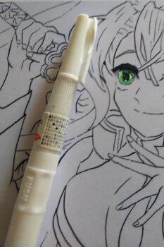 甘露寺蜜璃(みつり)目 コピックイラスト ホワイト